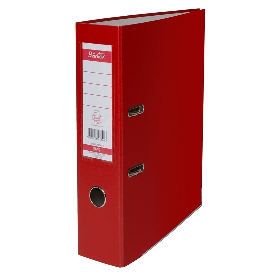 Segregator Bantex dźwigniowy A4/5cm - czerwony 100551800