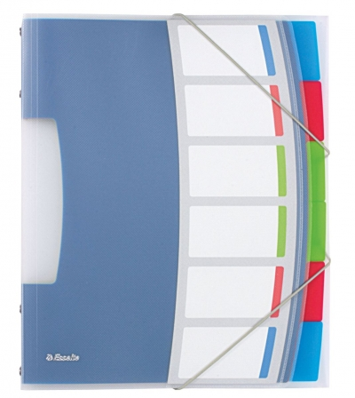 Teczka z przegródkami Esselte Vivida A4 kolor: mix 6 przegródek (624029)