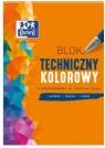 Blok techniczny A4/10K 225G kolor (20szt) OXFORD