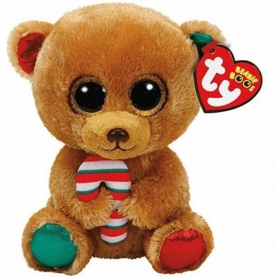 Maskotka Beanie Boos Bella - brązowy miś z cukierkiem 24 cm (37251)