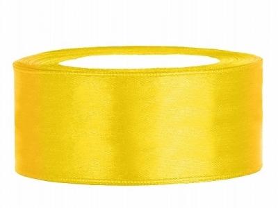 Tasiemka satynowa żółta ATS25-084 2,5cm x 25m .