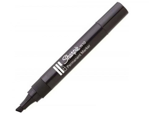 Marker Sharpie permanentny W10, 1.2/5.5 mm - Czarny (SHP-0192652)