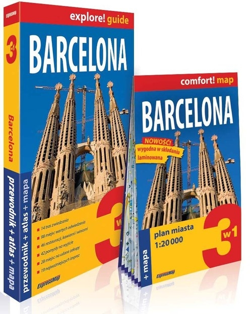 Barcelona 3w1 Przewodnik+atlas+mapa