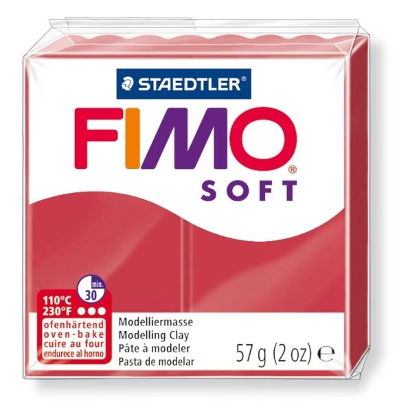 Masa termoutwardzalna Fimo Soft karminowa (F8020-26)
