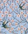 Karnet 17x14cm z kopertą Almond Blossom and Swallow