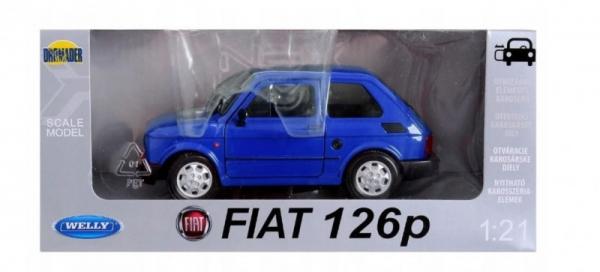 Pojazd Fiat 126P niebieski 1:21 (24066-4)