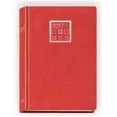 Terminarz 2017 B7 Standard - czerwony