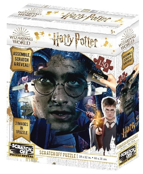 Harry Potter Magiczne puzzle-zdrapka Harry Potter poszukiwany 500 elementów