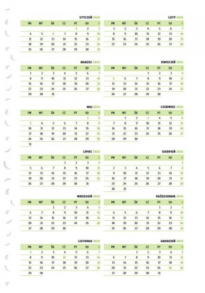 Kalendarz 2021 Ptaszek Staszek Ptaszek Staszek