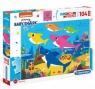 Clementoni, puzzle Maxi SuperColor 104: Baby Shark (23751)