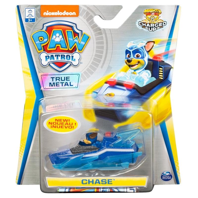 Psi Patrol Mighty Pups: pojazd metalowy - Chase (Edycja Specjalna) (6053257/20121401)
