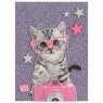 Błyszczący pamiętnik Studio Pets fioletowy