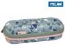 Piórnik owalny usztywniany Milan Terrazzo Green Eco zieolo-różowy (081145TZG)