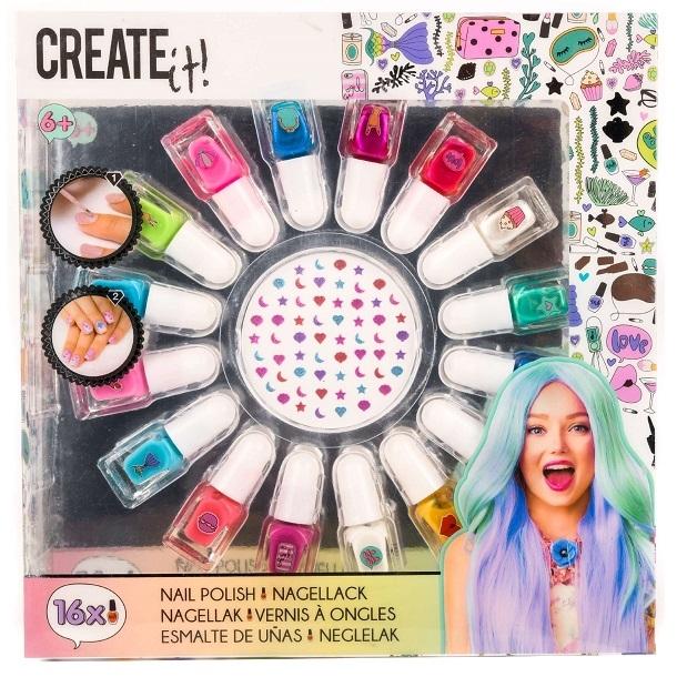 Create it! Lakier do paznokci, mega set 16 szt. (84145)