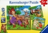 Puzzle Moje ulubione zwierzęta 3x49 (093519)