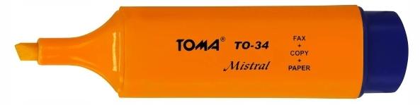 Zakreślacz mistral pomarańczowy TO-334