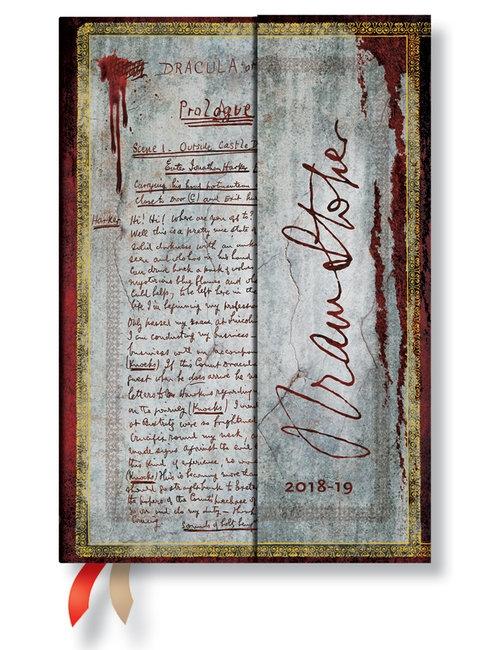 Kalendarz 18M 2019 Bram Stoker, Dracula Mini H Paperblanks