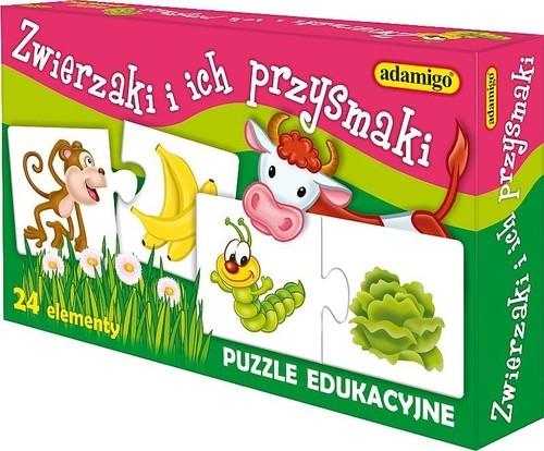 Zwierzaki i ich przysmaki - układanka edukacyjna Pogorzelska Julia