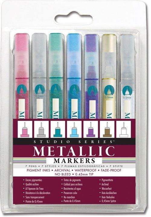 Zestaw pisaków metalicznych 7 kolorów