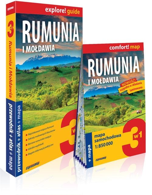 Rumunia i Mołdawia 3w1 przewodnik + atlas + mapa Fogiel Stanisław