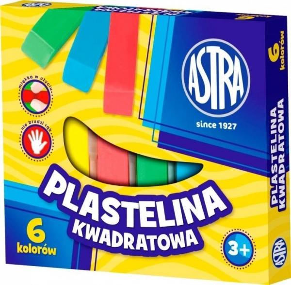 Plastelina kwadratowa 6 kolorów