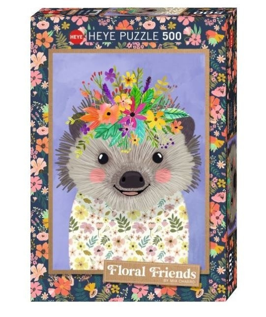 Puzzle 500 elementów Floral Friends, Jeż, Mia Charro (29952)