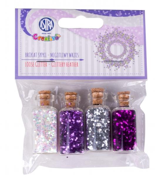 Brokat sypki Migotliwy wrzos, szklane buteleczki (335121004)