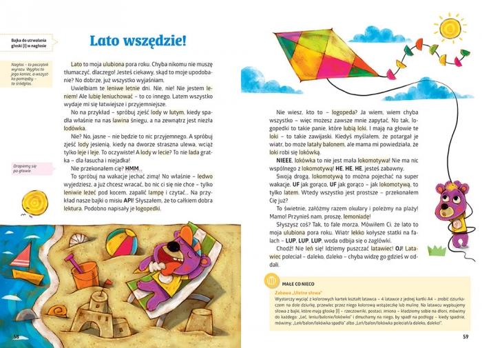 Bajki logopedyczne misia API Kalina Agata, Szyfter Maria