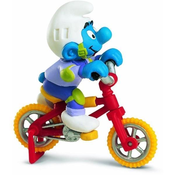 SCHLEICH Smurf na rowerz e BMX