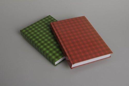 Brulion A5 w kratkę 288 kartek szkocka krata