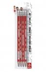 Ołówek trójkątny z gumką HB 4 szt. - PZPN (206016001)