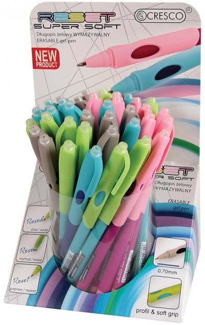 Długopis żelowy wymazywalny Cresco RESET(450000) mix .