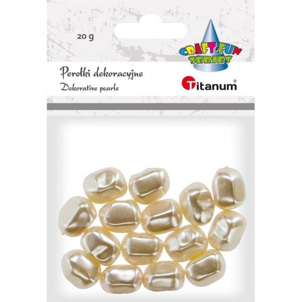 Perły Titanum Craft-fun twist biały perłowy