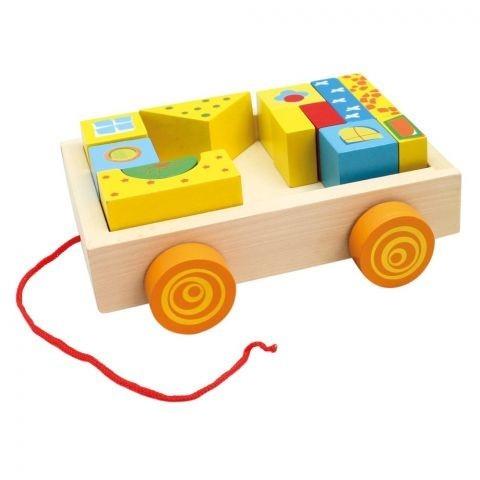 Drewniany samochód z klockami (80152)