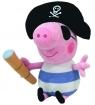Maskotka Beanie Babies Świnka Peppa - George Pirat 15 cm (TY 46152)