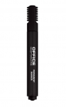 Marker permanentny OFFICE PRODUCTS, ścięty, 1-5mm (linia), czarny 12 sztuk
