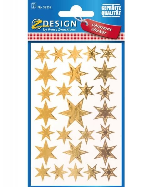 Naklejki foliowe - Złote gwiazdy (52252)