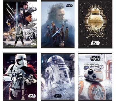 Zeszyt A5 w linie 54 kartki Star Wars 10 sztuk mix
