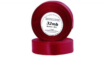 Wstążka satynowa 6mm/32mb ciemnoczerwony