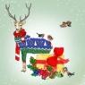 Karnet Swarovski kwadrat Święta Prezenty renifer