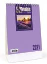 Kalendarz 2021 Biurkowy - 52T fioletowy CRUX praca zbiorowa