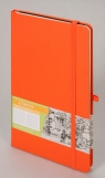 Notes A5 Romantyzm w kratkę pomarańczowy