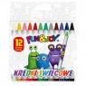 Kredki świecowe Fun&Joy, 12 kolorów (199868)