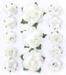 Ozdoba papierowa Galeria Papieru kwiaty róże białe (252027)