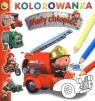 Mały chłopiec Wóz strażacki Kolorowanka