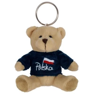Breloczek Miś w koszulce granatowej Polska