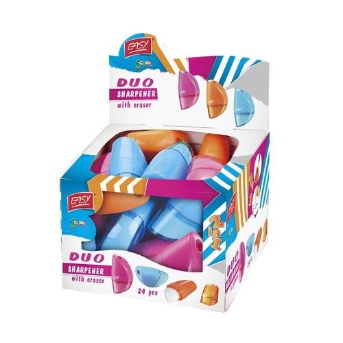 Temperówka z gumką Duo - 12 sztuk