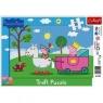 Puzzle ramkowe 15 Świnka Peppa rycerz (31152)