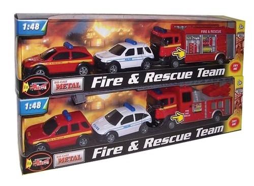 Pojazdy ratunkowe z dźwiękiem 1:48