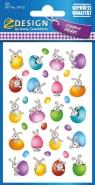 Naklejki wielkanocne - zajączki z jajeczkami (39152)